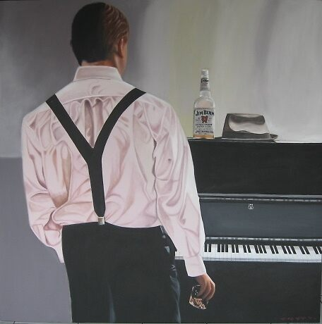 PIANO MAN $1280 by sharonldawson