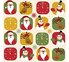 Christmas Countdown Pattern Photographic Print