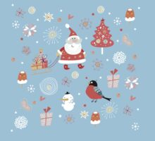 Cute Christmas Pattern Kids Clothes