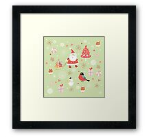 Cute Christmas Pattern Framed Print