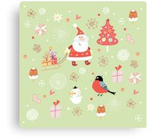 Cute Christmas Pattern Canvas Print
