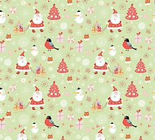 Cute Christmas Pattern by solnoirstudios