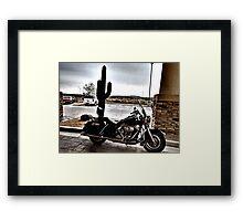 Harley at a Williams, AZ Hotel Framed Print