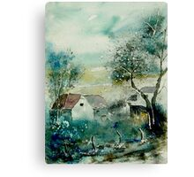 watercolor monceau Canvas Print