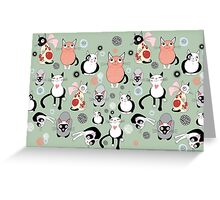 Collection of Cats Greeting Card