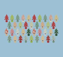 Christmas Trees Pattern Kids Clothes
