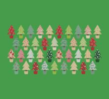 Christmas Trees Pattern Baby Tee