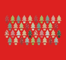 Christmas Trees Pattern Kids Tee