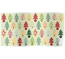 Christmas Trees Pattern Poster