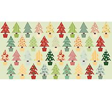 Christmas Trees Pattern Photographic Print