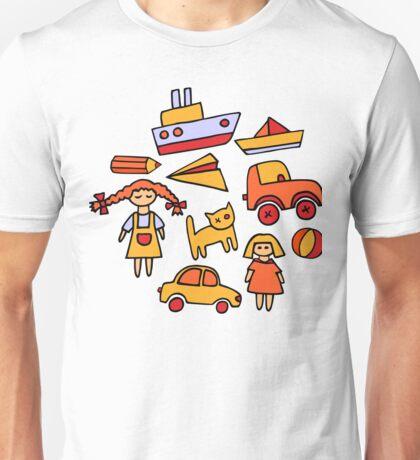 Set of funny toys Unisex T-Shirt