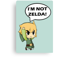 I'm Not Zelda Canvas Print