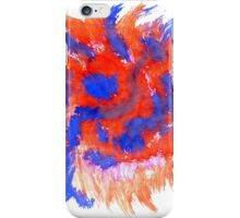Red Blue Background iPhone Case/Skin