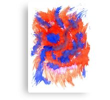 Red Blue Background Canvas Print