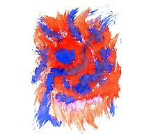 Red Blue Background Photographic Print