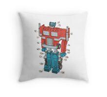 Optimus Prime Transformers Patent  Throw Pillow