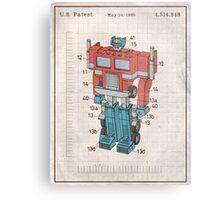 Optimus Prime Transformers Patent  Metal Print
