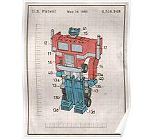 Optimus Prime Transformers Patent  Poster