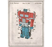 Optimus Prime Transformers Patent  Photographic Print