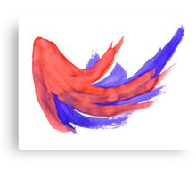 Red Blue Background 2 Canvas Print