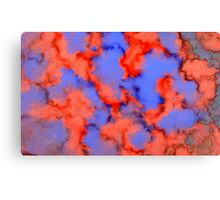 Red Blue Background 4 Canvas Print