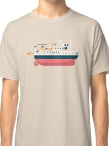 Minimalist Jacques Cousteau's Research Vessel Calypso Classic T-Shirt