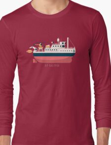 Minimalist Jacques Cousteau's Research Vessel Calypso Long Sleeve T-Shirt