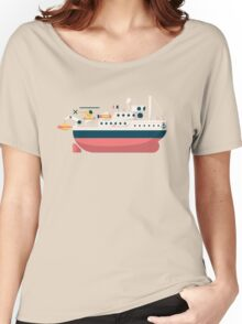 Minimalist Jacques Cousteau's Research Vessel Calypso Women's Relaxed Fit T-Shirt