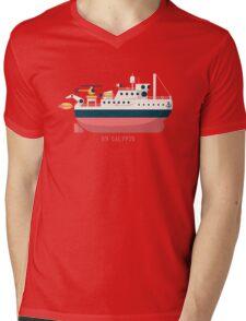 Minimalist Jacques Cousteau's Research Vessel Calypso Mens V-Neck T-Shirt