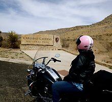Biker Chic at Carlsbad Caverns by Marielle O'Brien