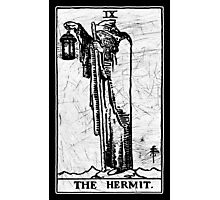 The Hermit Tarot Card - Major Arcana - fortune telling - occult Photographic Print
