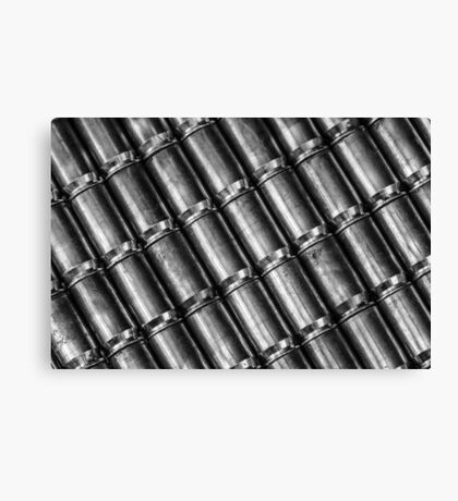 45 Brass #4 (Black & White) Canvas Print