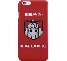 We Are Compatible (Cyberman) iPhone Case/Skin