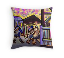 Happy days (from my compute  digital painting) Throw Pillow