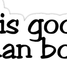 TV is gooder than books Sticker