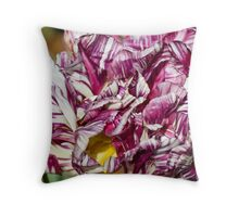 Odd looking Tulips Throw Pillow