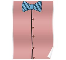 Funny Retro Bow tie poster  Poster