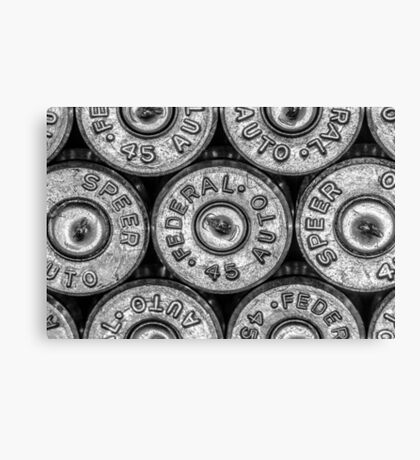 45 Brass #1 (Black & White) Canvas Print