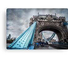 At the Foot of Tower Bridge Canvas Print