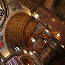 Inside Saint Matthew's Cathedral -- At An Angle by Cora Wandel