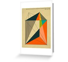 DISSECTION OF THE TRIANGULAR PRISM INTO 3 PYRAMIDS OF EQUAL VOLUME Greeting Card