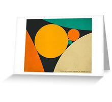 COXETER SEQUENCE OF TANGENT CIRCLES Greeting Card