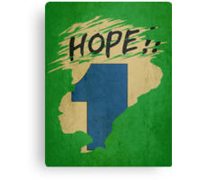 Hope!! (time machine) Canvas Print
