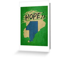 Hope!! (time machine) Greeting Card