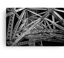 Steel Bridge in Black and White Canvas Print