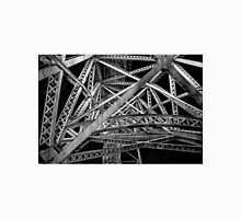 Steel Bridge in Black and White Unisex T-Shirt