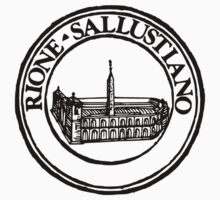 Next Stop Rione Sallustiano Black Text Kids Clothes