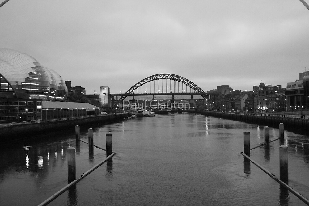 Looking up the Tyne by Paul Clayton