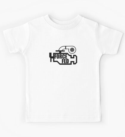 Force Fed - Check Engine light Kids Tee