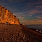 East Cliff Sunset Dorset by Chris Thaxter